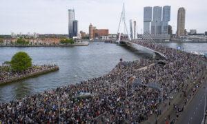 Black Lives Matter demonstratie Rotterdam
